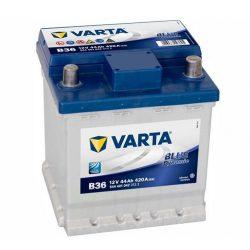 VARTA BLUE Dynamic B36 12V 44Ah/420A  Autó Akkumulátor (Fiat Punto) Jobb+