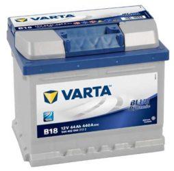 VARTA Blue Dynamic B18 12V 44Ah/440A Autó Akkumulátor Jobb+