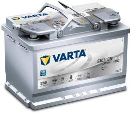 VARTA SILVER Dynamic E39 AGM 12V 70Ah/760A Autó Akkumulator Jobb+