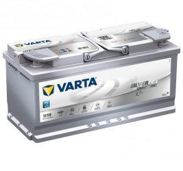 VARTA SILVER Dynamic H15 AGM 12V 105Ah/950A Autó Akkumulátor Jobb+