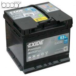 Exide Prémium EA530 12V 53Ah/540A autó akkumulátor