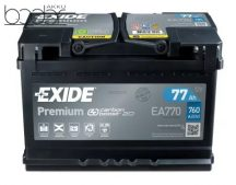 Exide Prémium EA770 12V 77Ah/760A autó akkumulátor