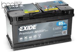 Exide Prémium EA852 12V 85Ah/800A autó akkumulátor