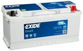 Exide Excell EB1100 12V 110Ah/850A autó akkumulátor Jobb+