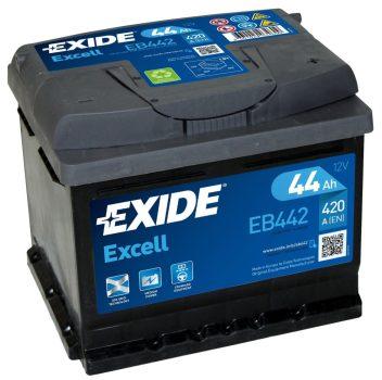 Exide Excell EB442 12V 44Ah/420A autó akkumulátor Jobb+