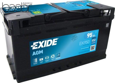 Exide Stop-Start EK950 12V 95Ah/850A start/stop autó akkumulátor