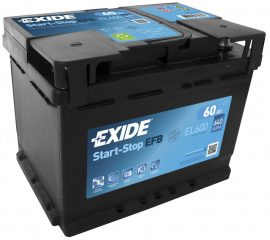 Exide Stop-Start EL600 12V 60Ah/640A start/stop autó akkumulátor