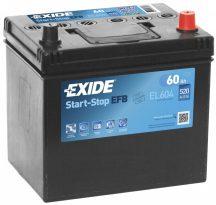Exide Stop-Start EL604 12V 60Ah/520A start/stop autó akkumulátor