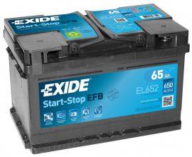 Exide Stop-Start EL652 12V 65Ah/650A start/stop autó akkumulátor