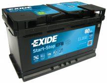 Exide Stop-Start EL800 12V 80Ah/720A start/stop autó akkumulátor