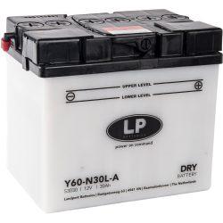Landport Y60-N30L-A / 12V 30Ah 300A Jobb+ motor akkumulátor