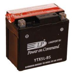 Landport YTX5L-BS / 12V 4Ah A Jobb+ motor akkumulátor