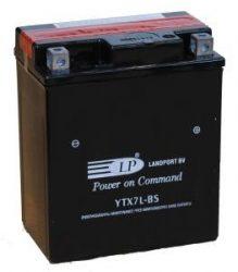 Landport YTX7L-BS / 12V 6Ah 85A Jobb+ motor akkumulátor
